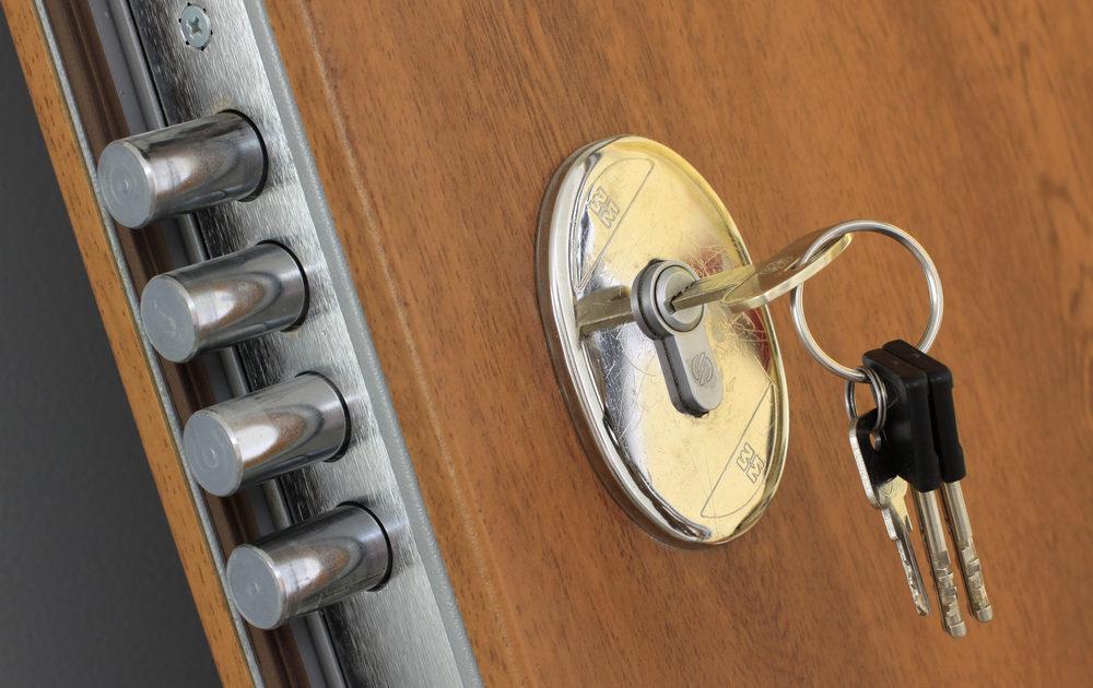 Магнитный замок на дверь в подъезд с чип ключом цена